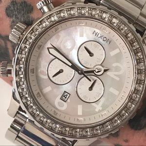 Nixon 42-20 Chrono Crystal Watch NWT
